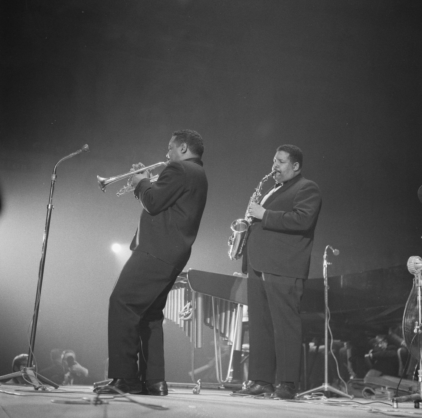 Nat and Cannonball Adderley (1961), photographed by Dave Brinkman (ANEFO)