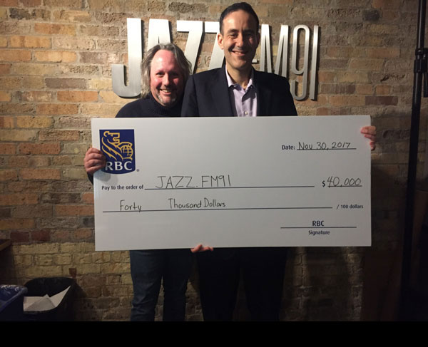 RBC Royal Bank renews their sponsorship of Jazzology