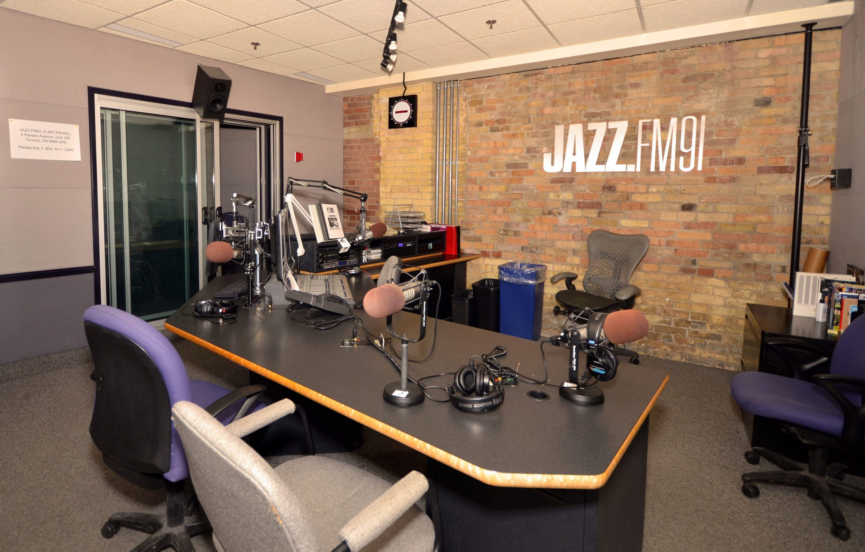 JAZZ.FM91 office interior photographed by Mary Kate Dall